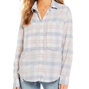 Free People Woven Plaid Oversized Longsleeve shirt